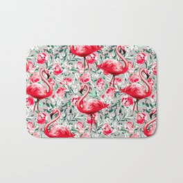 Flamingos and Flowers Bath Mat