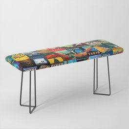 Mosaic - retro space travel Bench
