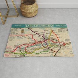 London Undergroud Map 1910 Rug