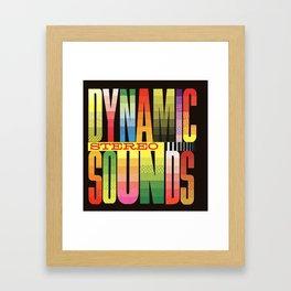 dynamic stereo sounds Framed Art Print