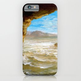 Eugene Delacroix - Shipwreck On The Coast - Digital Remastered Edition iPhone Case