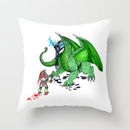 Tea Slayer Throw Pillow
