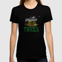 Splittin' Trees Funny Distressed Disc Golf T-shirt