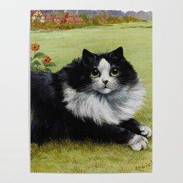 Black & White Kitty - Louis Wain Cats Poster