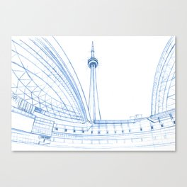 BluePrints | CNTower - Toronto Canvas Print