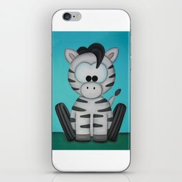 Scooter the Zebra iPhone Skin