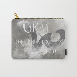GRAY for knowledge best untold. Shadowhunter Children's Rhyme. Carry-All Pouch