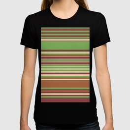 Fall Colors Random Stripes  T-shirt