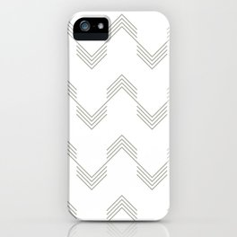 Simply Deconstructed Chevron Retro Gray on White iPhone Case