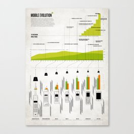 DN: Mobile Evolution Canvas Print