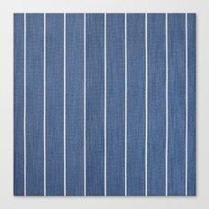 Denim Blue with White Pinstripes Canvas Print