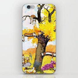 calvin hobbes all iPhone Skin