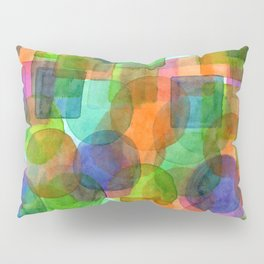 Befriended Squares and Bubbles Pillow Sham