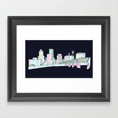 Portland - Midnight Version  Framed Art Print