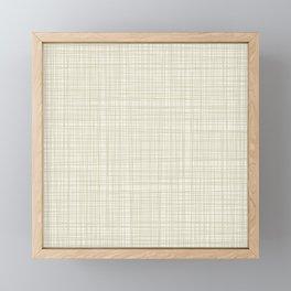 Burlap Barkcloth Framed Mini Art Print
