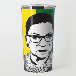Ruth Bader Ginsburg Rainbow Travel Mug