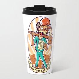 Drunkard Baseball PLAYER - Cinnabar RED Travel Mug