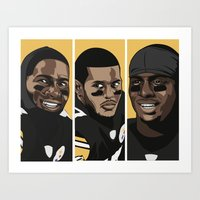 steelers Art Prints featuring Young Money by Thirty3