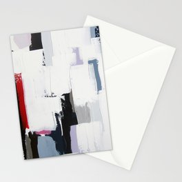 "No. 31 - Print of Original Acrylic Painting on canvas - 16"" x 20"" - (White and multi-color) Stationery Cards"