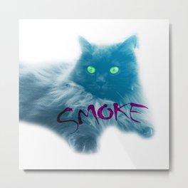Smoke Cat Metal Print
