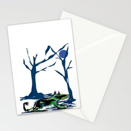 """""""Wolfdog"""" Paulette Lust Original, Contemporary, Whimsical, Colorful Art Stationery Cards"""
