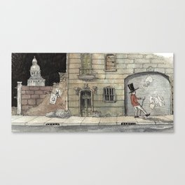 Night Stroll Through Paris Canvas Print