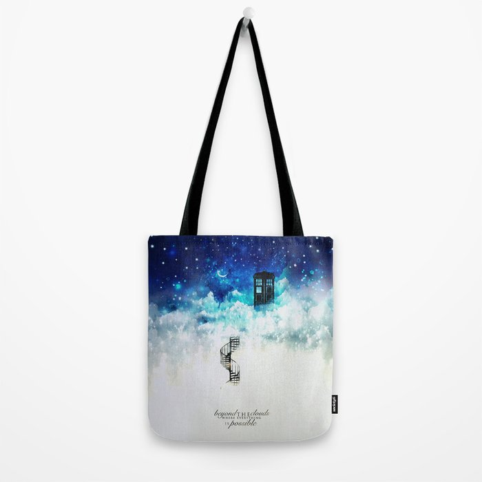 Beyond the clouds | Doctor Who Tote Bag