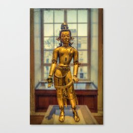 Golden Figurine Canvas Print