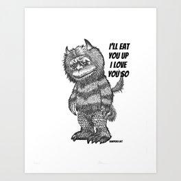 Love you so Art Print