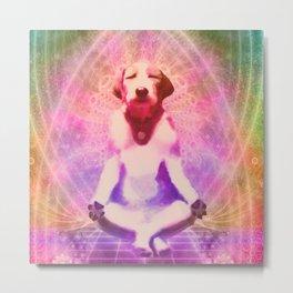 Dog zen Metal Print