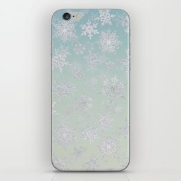 Frosty Day - Snowflakes iPhone Skin