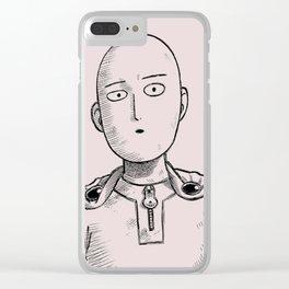 saitama sepia Clear iPhone Case