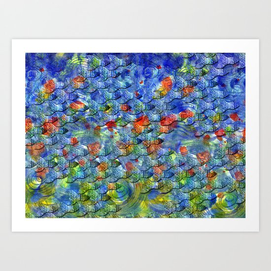 School of fishes. Art Print