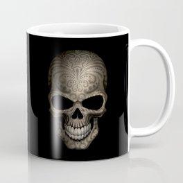 Decorated Dark Day of the Dead Sugar Skull Coffee Mug