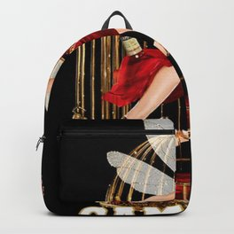 Vintage Bitter Campari Fairy Lithograph Advertisement Backpack
