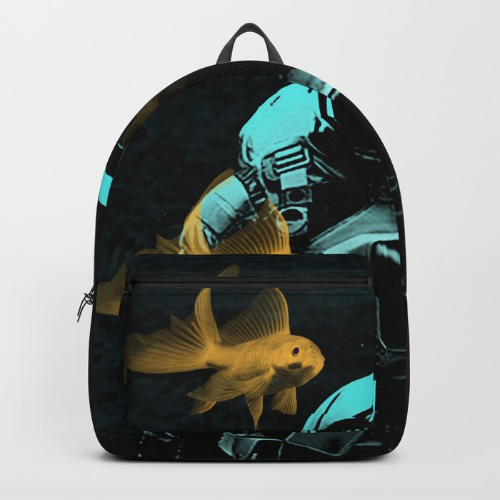 astronauts and goldfish Backpack