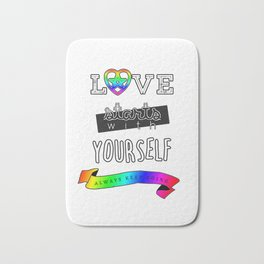 Love Starts With Yourself Bath Mat