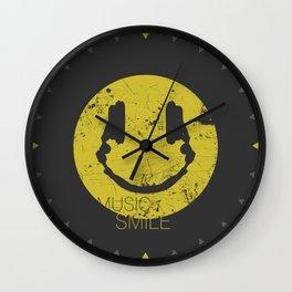 Music Smile Wall Clock