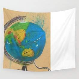 Diddie Doodle the Illuminated Globe Wall Tapestry