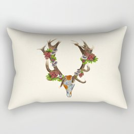 The Red Stag Rectangular Pillow