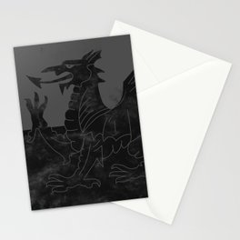 Black Wales Flag Stationery Cards