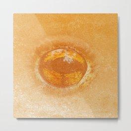 Frog eye in orange pattern Metal Print