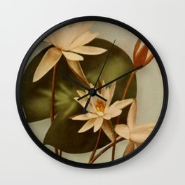 Vintage Water Lily Wall Clock