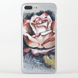 "Drawing ""Contrasting Rose"" Clear iPhone Case"