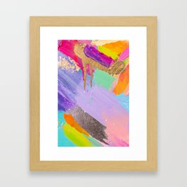 Contemporary abstract painting Framed Art Print