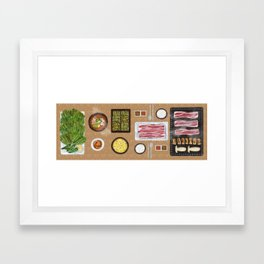 Korean BBQ party! Framed Art Print