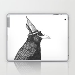 Willem Dacrowe Crow Wearing a Witch's Hat Laptop & iPad Skin