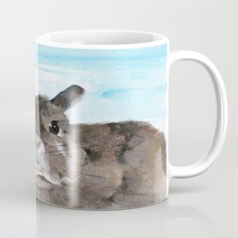 Peanut the Netherland dwarf rabbit, Easter, Nursery Coffee Mug