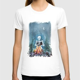 Skelly by the Campfire T-shirt