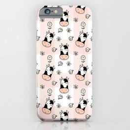 CUTE COW PLAID iPhone Case